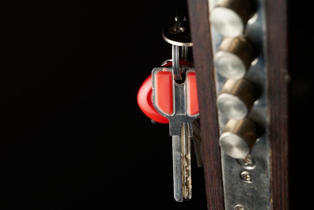sleutel in de deur